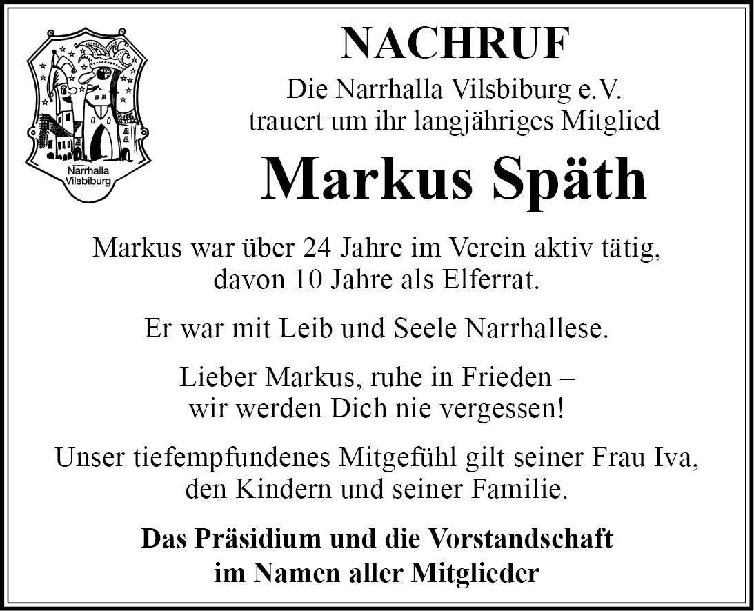 Nachruf Markus Späth